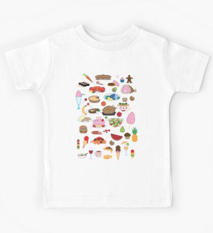Food Glorious Food (black) Kids Tee