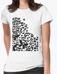 Summer Butterflies Womens Fitted T-Shirt