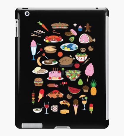 Food Glorious Food (black) iPad Case/Skin