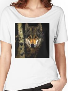 Wolf from Kaibab Forest in Arizona Women's Relaxed Fit T-Shirt