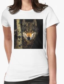 Wolf from Kaibab Forest in Arizona Womens Fitted T-Shirt