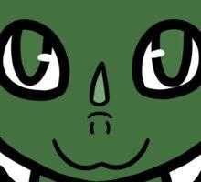 Dragon Chibi (Dark Green) Sticker