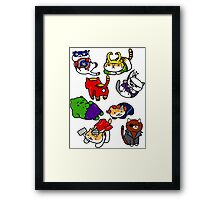 Atsume Assemble Framed Print