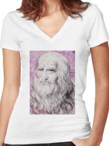 Da vinci Women's Fitted V-Neck T-Shirt