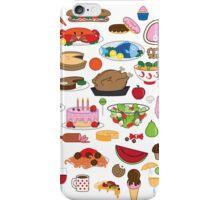 Food Glorious Food (white) iPhone Case/Skin