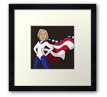 Hillary Clinton American superhero Framed Print