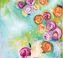 Ranunculus, Flowers, by LauraBergrenArt