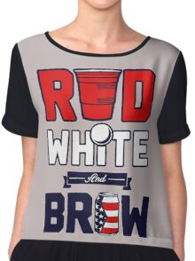 RED-WHITE & BREW Chiffon Top