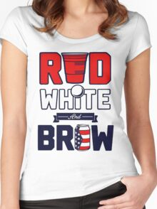 RED-WHITE & BREW Women's Fitted Scoop T-Shirt