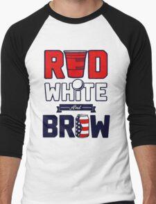 RED-WHITE & BREW Men's Baseball ¾ T-Shirt