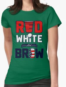 RED-WHITE & BREW Womens Fitted T-Shirt
