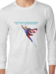 Hillary Clinton shattering the glass ceiling Long Sleeve T-Shirt