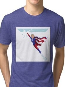 Hillary Clinton shattering the glass ceiling Tri-blend T-Shirt