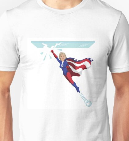 Hillary Clinton shattering the glass ceiling Unisex T-Shirt
