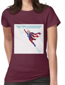 Hillary Clinton shattering the glass ceiling Womens Fitted T-Shirt