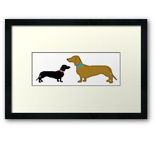 Sausage Dog and Pup Framed Print