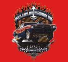 Muscle Car - Barracuda Road Burn One Piece - Long Sleeve