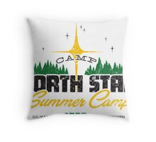 Camp North Star Throw Pillow