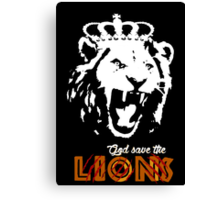 God Save The Lions Canvas Print