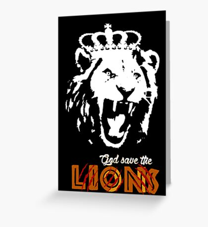 God Save The Lions Greeting Card