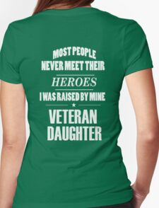 Veteran Daughter Womens Fitted T-Shirt