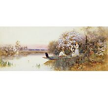 Picking Blossoms Photographic Print