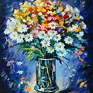 Bouquet Margarita by Leonid  Afremov
