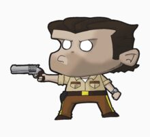 TWD Rick Grimes inspired chibi style (Alternative) One Piece - Short Sleeve