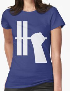 WORKOUT BAR SHIRT-WHITE Womens Fitted T-Shirt
