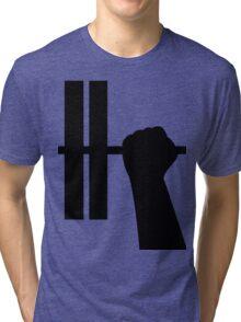 WORKOUT BAR SHIRT-BLACK Tri-blend T-Shirt