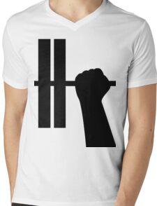 WORKOUT BAR SHIRT-BLACK Mens V-Neck T-Shirt