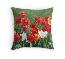 Tulip Patch Pillow Throw Pillow