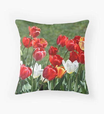 Tulip Patch Pillow Throw Pillow