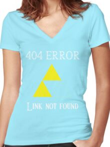 404 - Link not found (B) Women's Fitted V-Neck T-Shirt