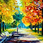 MORNING ALLEY by Leonid  Afremov