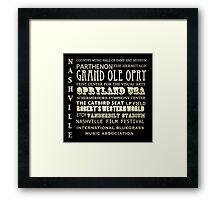 Nashville Tennessee Famous Landmarks Framed Print
