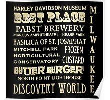 Milwaukee Wisconsin Famous Landmarks Poster