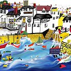Falmouth, iPad finger painting by Trevor Armstrong