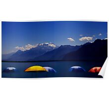 The Sun shade at Lake Geneva....... Poster