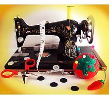 Vintage Mini Sewing Machine Photographic Print