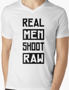 Photographer - Real Men Shoot Raw Mens V-Neck T-Shirt