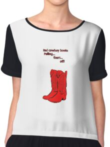 Red Cowboy Boots - HIMYM Chiffon Top