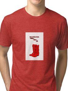 Red Cowboy Boots - HIMYM Tri-blend T-Shirt