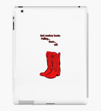 Red Cowboy Boots - HIMYM iPad Case/Skin