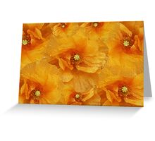 Poppy flower oil painting Greeting Card