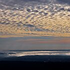 Rolling Fog Sunrise Over Hot Springs Arkansas USA by Lee Hiller