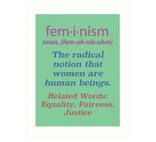 What is Feminism? Poster Art Print