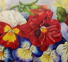 Pansies by Gerda  Smit