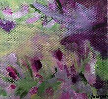 Abstract Flower Field by LauraBergrenArt