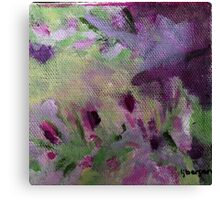 Abstract Flower Field Canvas Print